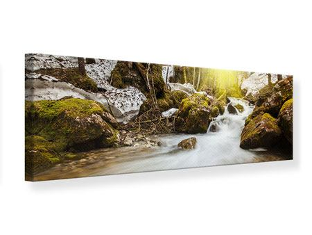 Panoramic Canvas Print Cascading Waterfall