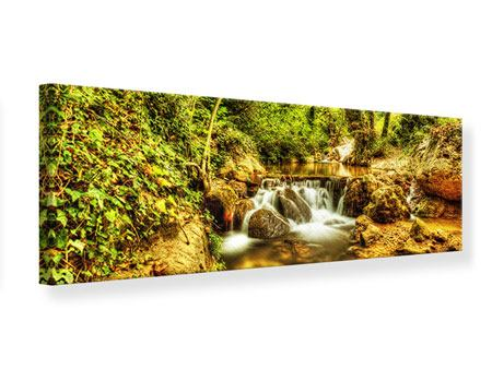 Panoramic Canvas Print Waterfall In The Forest