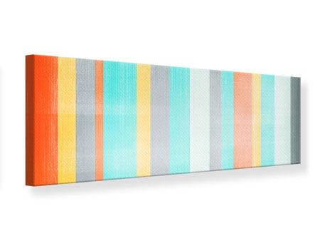 Panoramic Canvas Print Grunge Stripes