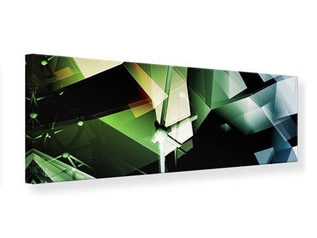 Panoramic Canvas Print 3D Polygon