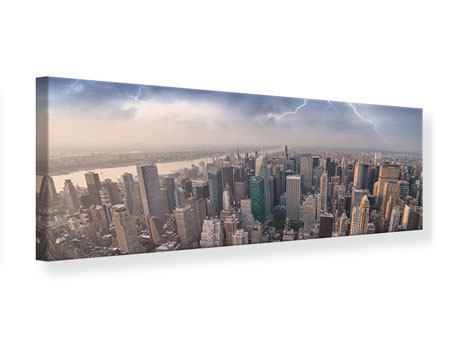Panoramic Canvas Print Manhattan