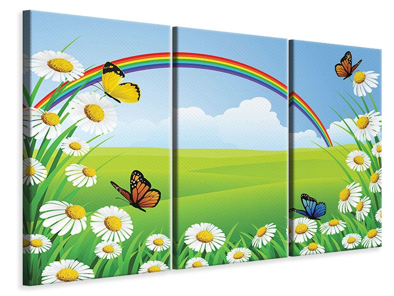 3 Piece Canvas Print The Colorful Rainbow