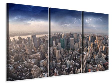 3 Piece Canvas Print Manhattan