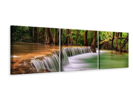 Panoramic 3 Piece Canvas Print Deep Forest