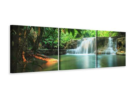 Panoramic 3 Piece Canvas Print Element Water