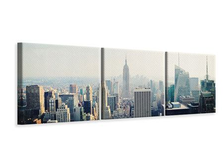 Panoramic 3 Piece Canvas Print NYC