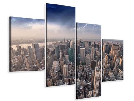 Modern 4 Piece Canvas Print Manhattan