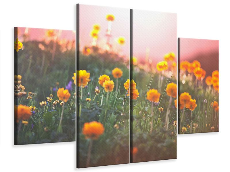 4 Piece Canvas Print The mountain Meadow
