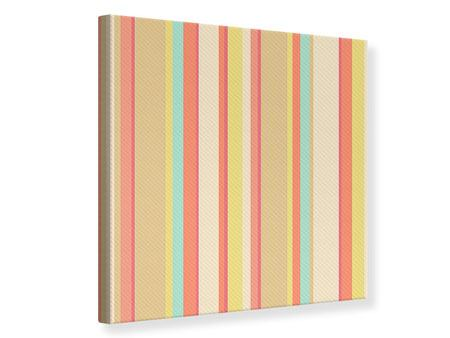 Canvas Print Pastel Stripes