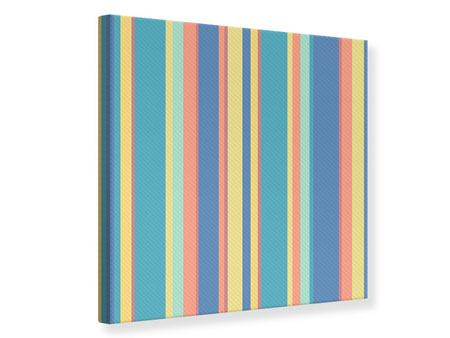 Canvas Print Vertical Stripes In Pastel