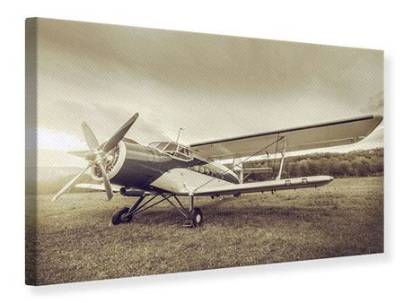 Canvas Print Nostalgic Aircraft In Retro Style