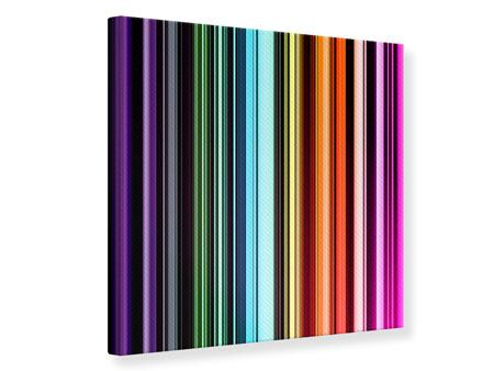 Canvas Print Colorful Stripes
