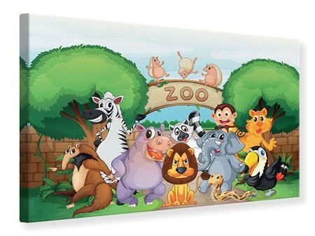 Canvas Print Funny Zoo
