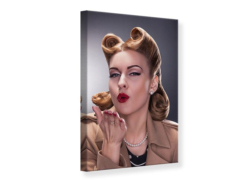 Canvas Print Pin Up Kiss