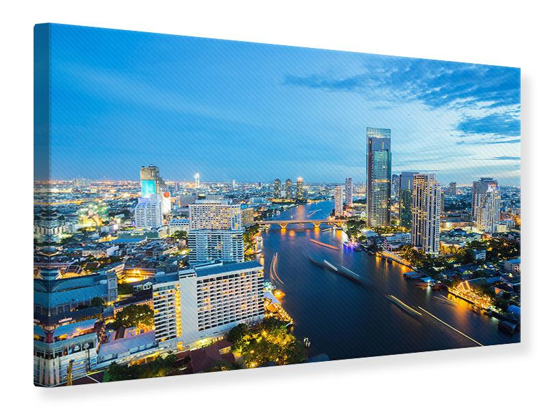 Canvas Print Skyline Bangkok At Dusk