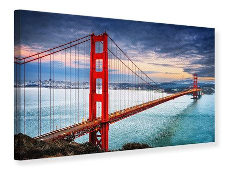 Canvas Print The Golden Gate Bridge At Sunset