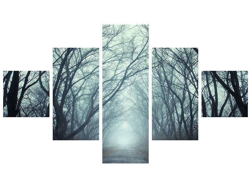 5 Piece Canvas Print Cloud Forest