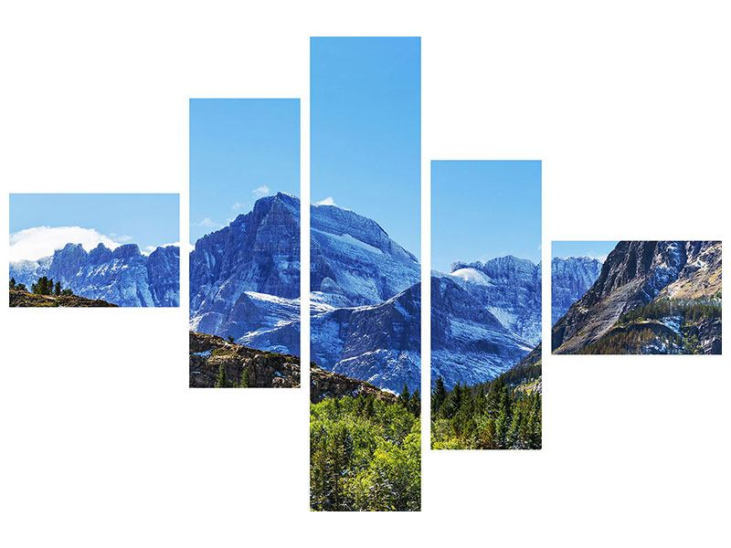 Modern 5 Piece Canvas Print The Summit Counter