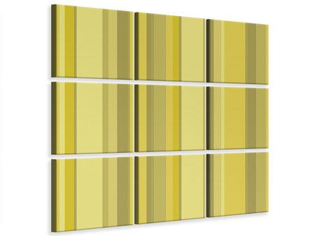 9 Piece Canvas Print Stripes