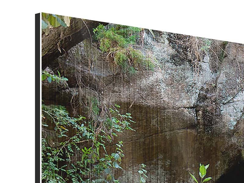 Panoramic 3 Piece Metallic Print The Blue Lagoon