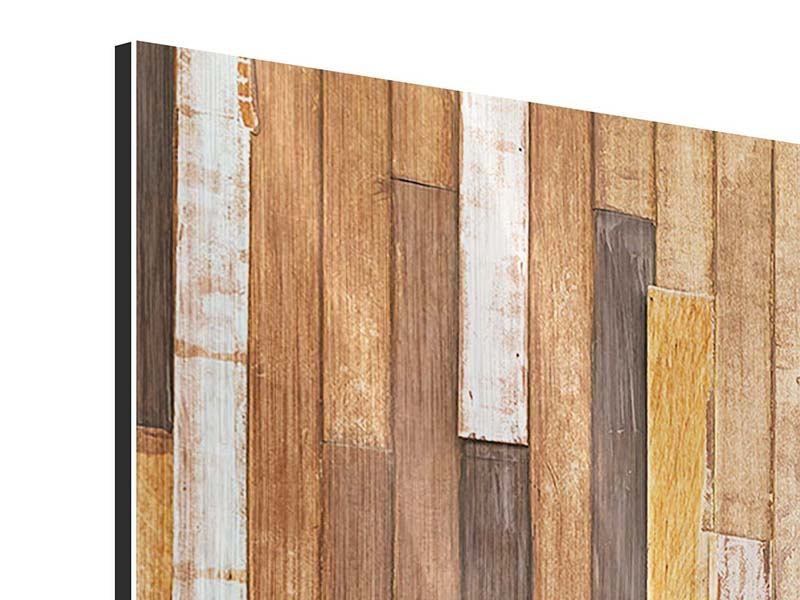 Modern 3 Piece Metallic Print Design Wood