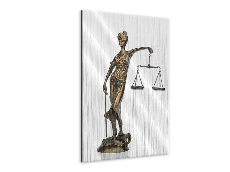 Metallic-Bild Justitia