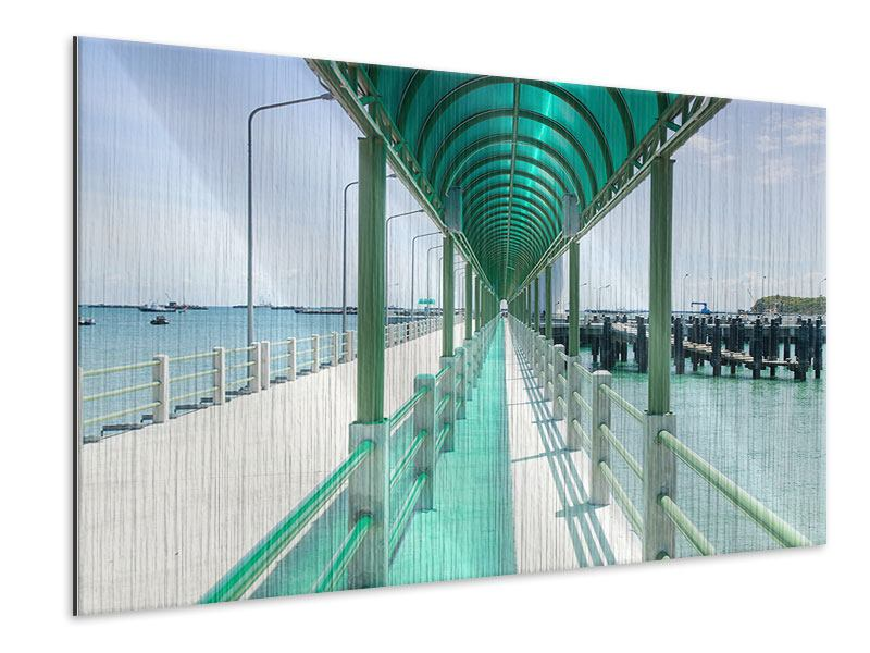 Metallic Print The Bridge On The Sea