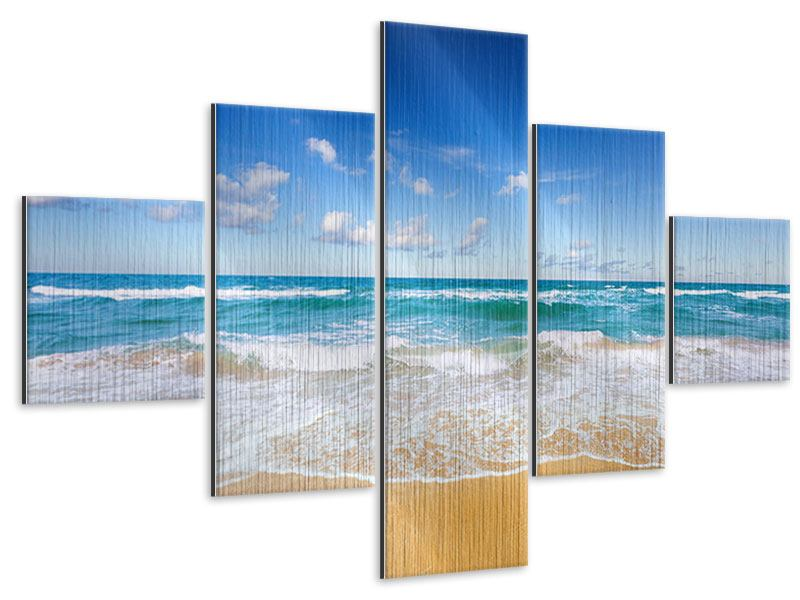 5 Piece Metallic Print The Tides And The Sea