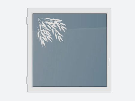Decorative Window Film bamboo leaves