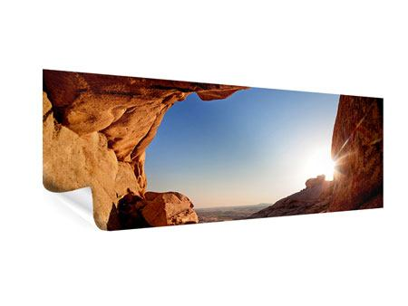 Panoramic Poster Sunset In Front Of The cave
