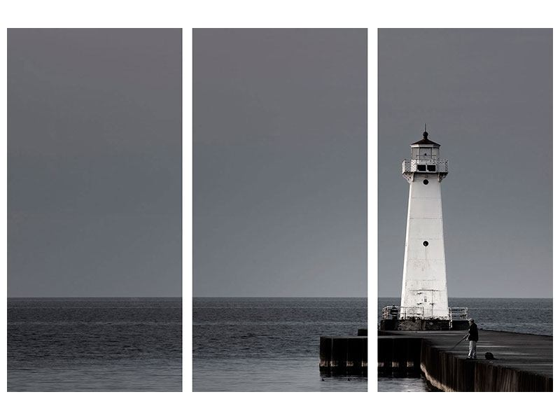 3 Piece Poster The Lighthouse At Night