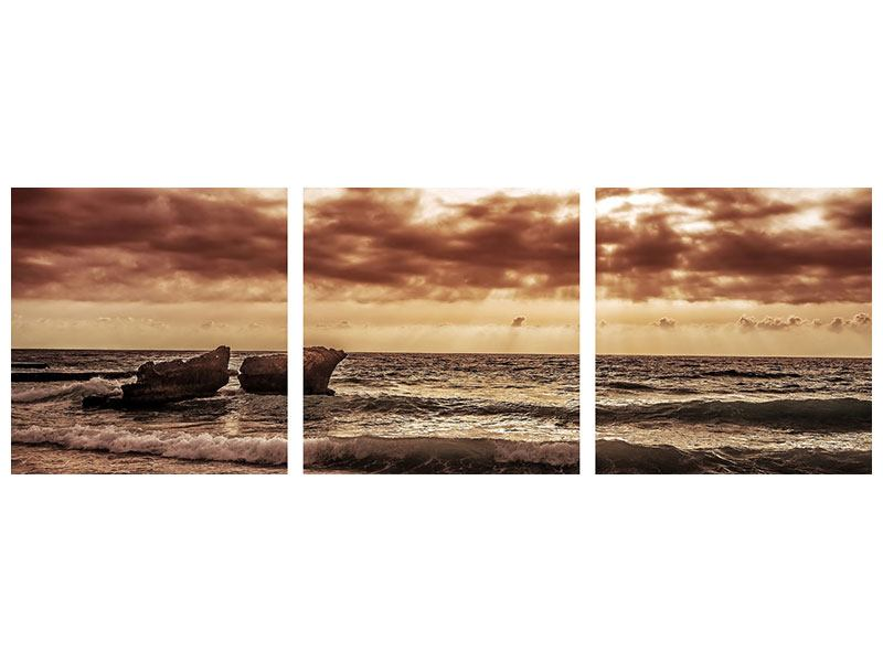 Panoramic 3 Piece Poster Sound Of The Sea