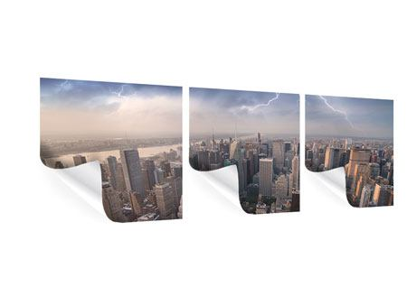 Poster en 3 parties Panoramique Manhattan