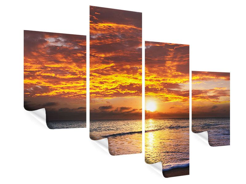 Modern 4 Piece Poster Relaxation By The Sea
