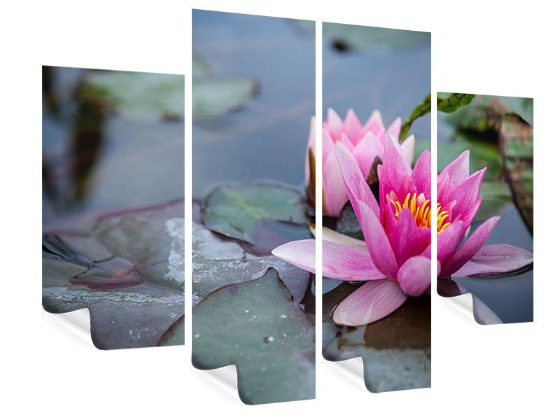 4 Piece Poster The Waterlilies Duo