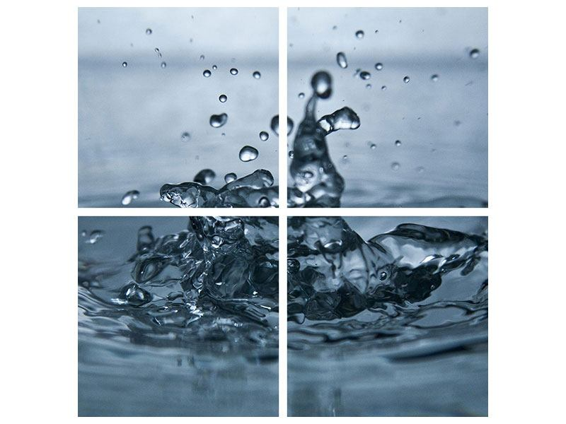4 Piece Poster Water Drops