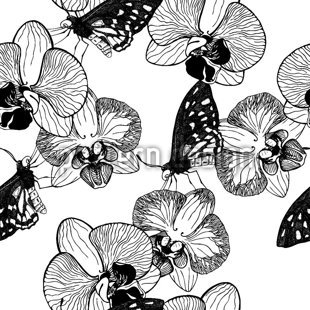 Papel tapiz de diseño Orchid And Butterfly