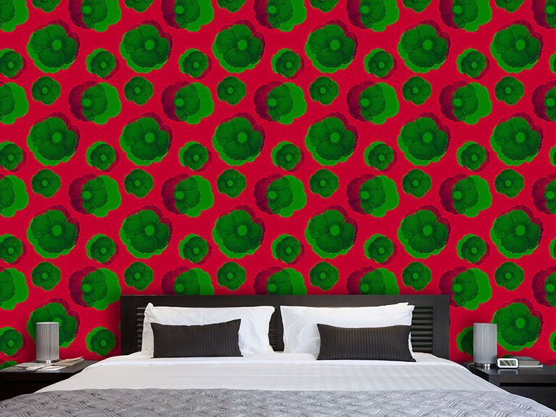 Design Wallpaper Fragrant Pop Art Blossoms