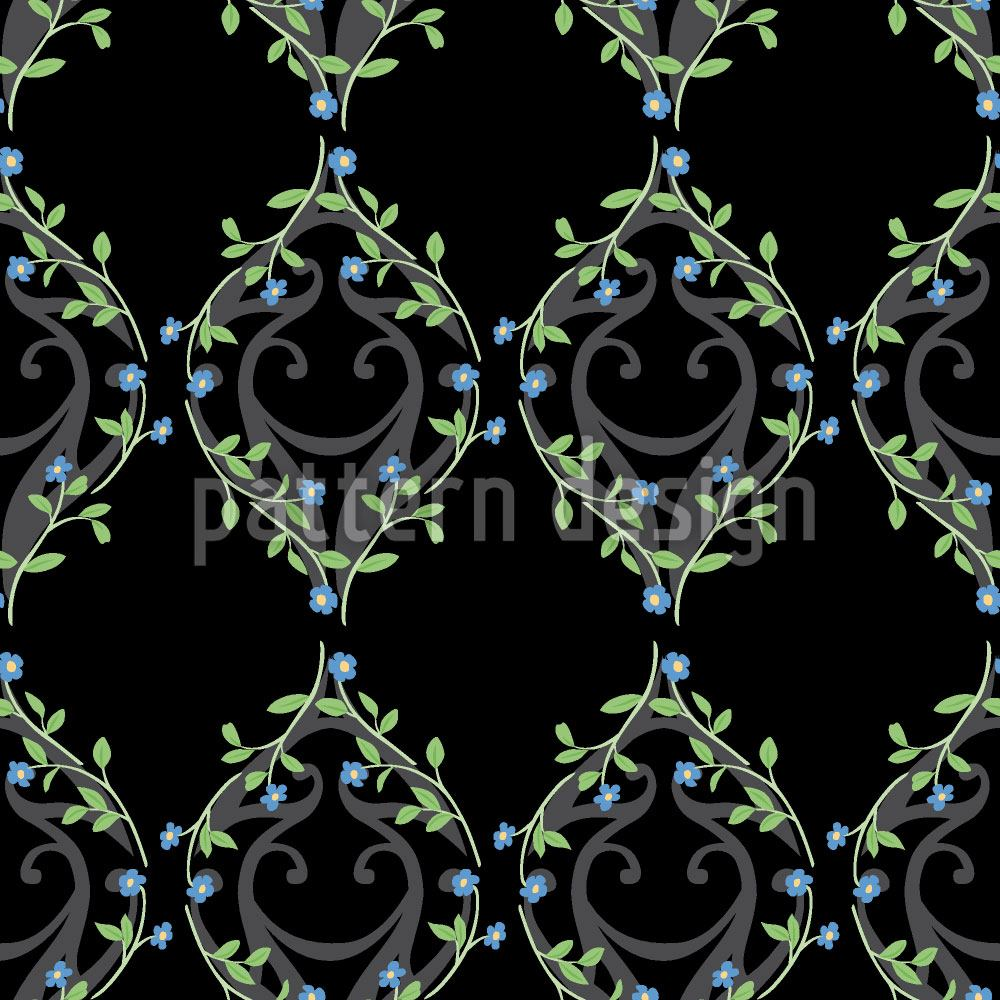 Design Wallpaper Forget-Me-Not Fence