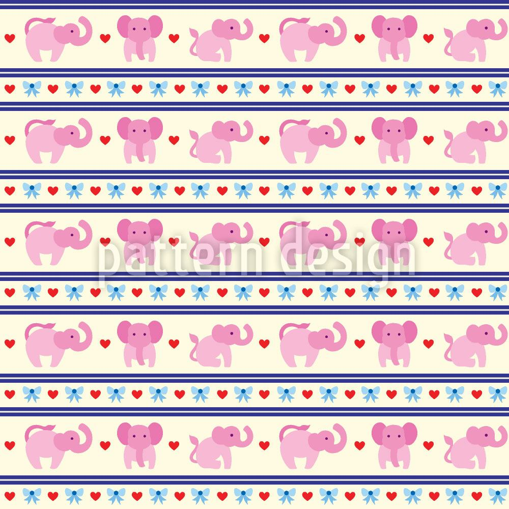 Carta da parati Pink Elephants