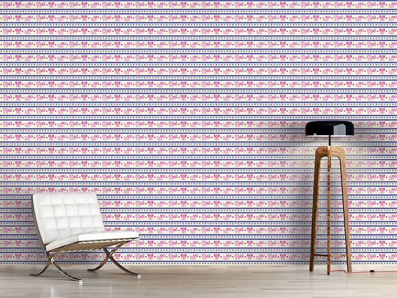 Design Wallpaper Pink Elephants