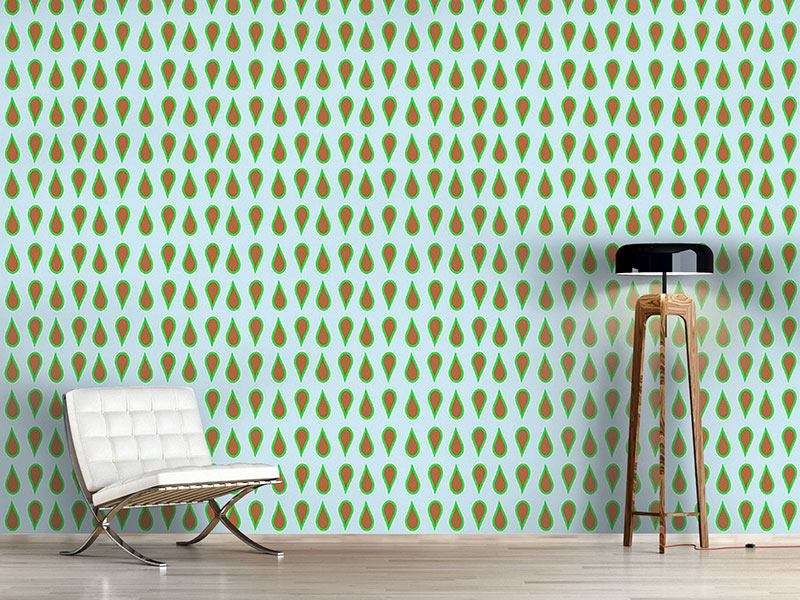 Design Wallpaper Chocolate Mint Drops
