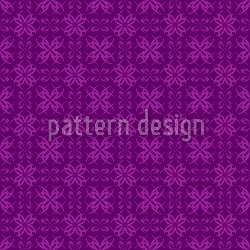 Papier peint design Cross Flowers