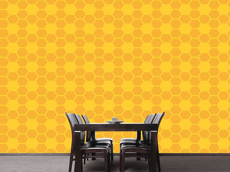 Papier peint design Simple Honeycomb