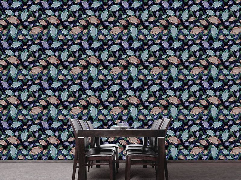 Design Wallpaper Fish In The Flow