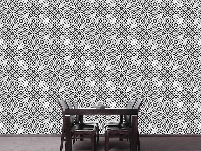 Design Wallpaper Floral Tile Mix