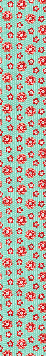 Papier peint design Flower Power And Dots