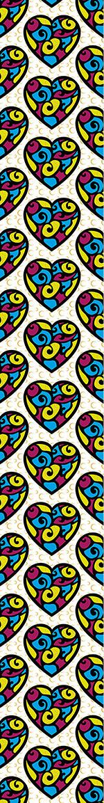Papier peint design Tiffany Hearts
