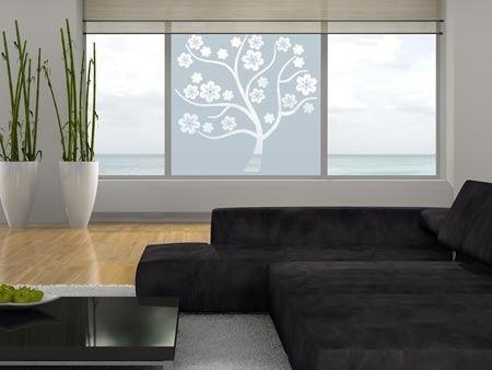 Window Foil blossom tree