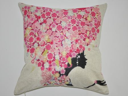 Cushion Cover Flower Face